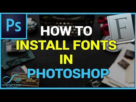 How to Download and Install FONTS in Photoshop-CS6, CC2020, CC2021