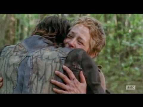 The Walking Dead 5x01 Carol & Daryl Hug Rick reunites with Baby Judith and tyrese and Sasha