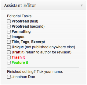 Assistant Editor Box