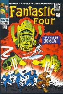 The cover to Fantastic Four #49