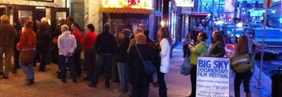 Film fans lining up for the Big Sky Documentary Film Festival