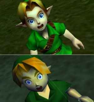 Comparison between the N64 and 3DS versions of Ocarina of TimeZelda Ocarina Of Time 3ds Gameplay