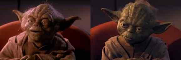 Star Wars CGI compare