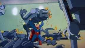 Superman vs. robots.