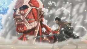 Eren Jaeger facing a titan