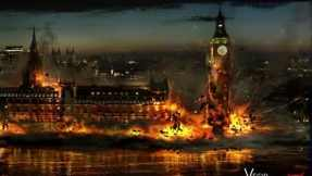 Parliament Explosion. Concept Art by George Hull.