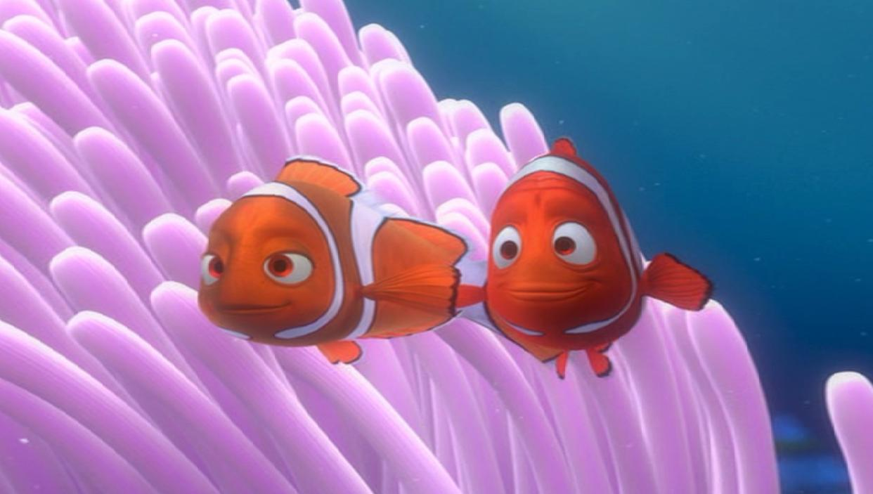 Nemo and Marlin from Finding Nemo