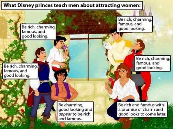 What Disney princes teach men about attracting women