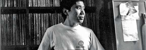 Haruki Murakami at a young age