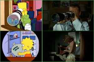 Simpsons' remake of Rear Window