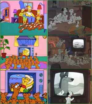 101 Dalmatiens revisited by The Simpsons
