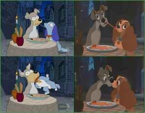 'Shady and The Vamp' by The Simpsons, remake of Lady and The Tramp