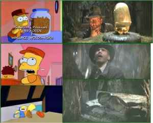 Simpson's remake of Indiana Jones