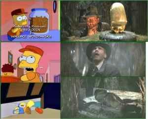 Simpson's remake of Indiana Jones