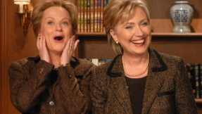 Amy Poehler and Hillary Clinton