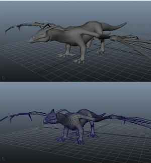 A model of the dragons in production