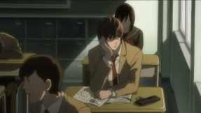 "The ""high school student lost in thought sitting next to the window"" is a particularly favorite cliché in anime."