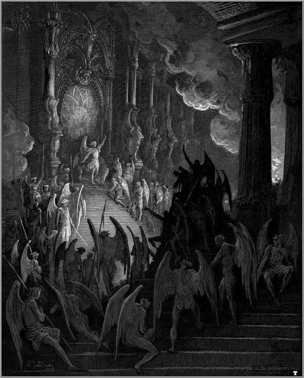 paradise lost john milton s politics the artifice gustave dore paradise lost satan takes his throne in hell