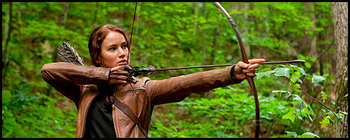 Katniss, a frequent visitor to the woods beyond District 12, felt at home in her first arena.