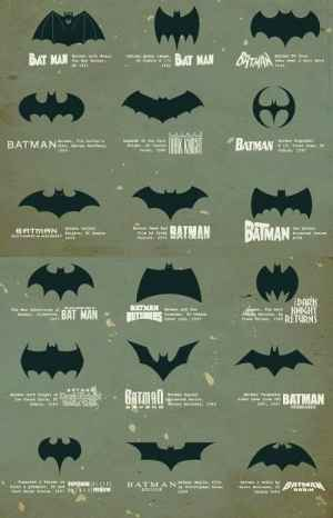 Batman's evolution.