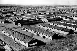 This image shows where Japanese Americans lived after their forced relocation.