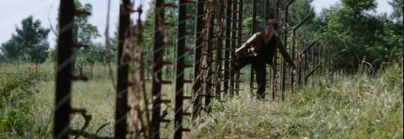 Katniss often crossed the fences of District 12 to hunt in the woods beyond her village.