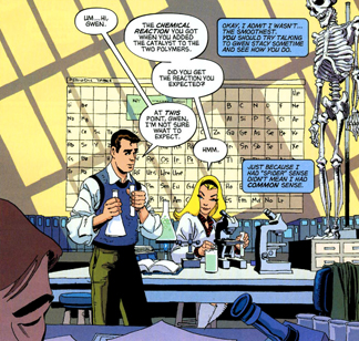 Peter and Gwen from Spider-Man: Blue by Jeph Loeb and Tim Sale