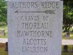 "From ""Authors' Ridge"" in Sleepy Hollow Cemetery, Concord, MA."