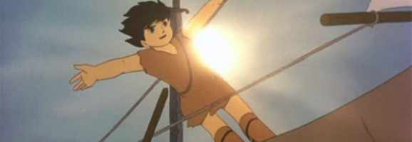 The cute hero of Takahata's debut film