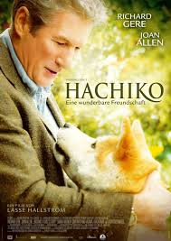 The poster for the American version of Hachiko starring Richard Gere