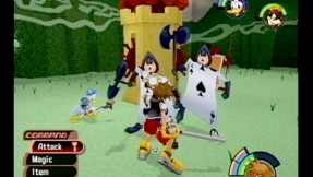 An example of Kingdom Hearts' gameplay.
