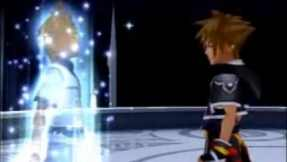 Roxas being absorbed into Sora for the final time.