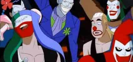 Batman Beyond shows the fascination with The Joker even extends to the future, where Joker gangs are a common problem.