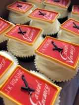 A contrast to the novel's content: The Casual Vacancy cupcakes by crumbsanddoilies.co.uk