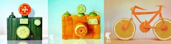 Dan Cretu makes bicycles and cameras out of vegetables!