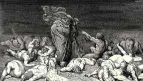 Dante and Virgil in Hell, etching by Gustave Doré