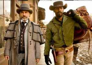 Christoph Waltz aids Jamie Foxx save his wife in Django Unchained.
