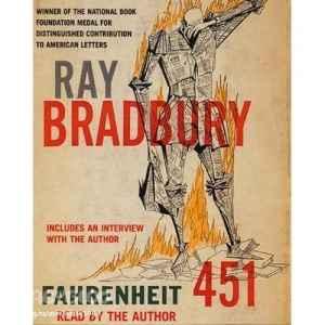 Cover of Ray Bradbury's Fahrenheit 451.