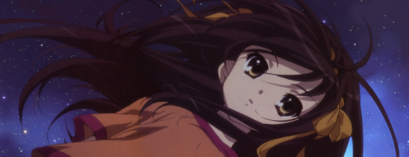 Haruhi as she realizes the scale of the world.