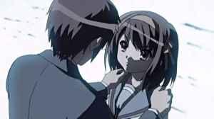 The fall of Haruhi is the consequence of a series of events that culminates into this moment