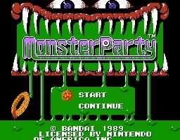 Monster Party - Title Screen