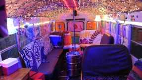 To try and give Schmidt the party of a lifetime, Jess creates her own version of a party bus using simple items.