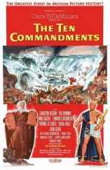 A poster for DeMille's 1956 Biblical epic, The Ten Commandments.