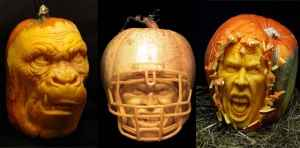 Vilafane Studio: carving faces into pumpkins