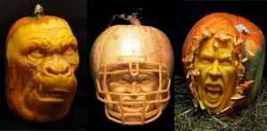 Vilafane Studio: carving faces into pumpkins