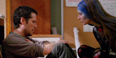 Wesley and Illyria discuss human existence.