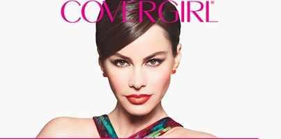 Sofia Vergara wearing Covergirl Blast lipstick.