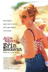 The movie poster for Erin Brockovich