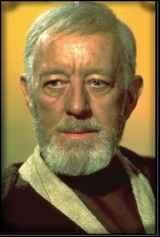 Alec Guinness as Obi-Wan Kenobi, the one who initiates the entire Star Wars saga.