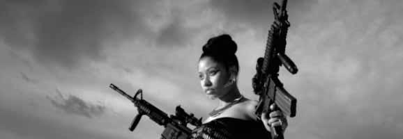 """Nicki Minaj as seen in """"Lookin A** N****s"""""""
